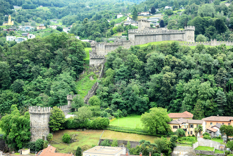 Castello di Montebello 库存照片