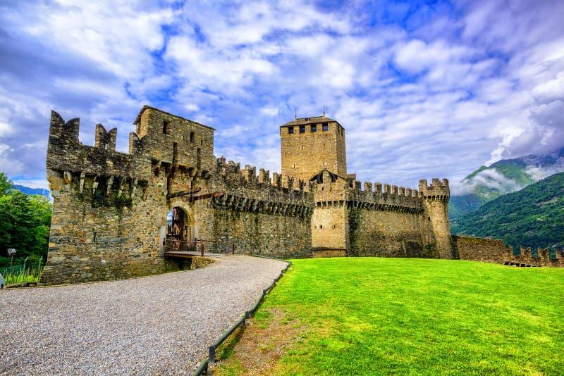 Castello di Montebello, Bellinzona, Suisse photos libres de droits
