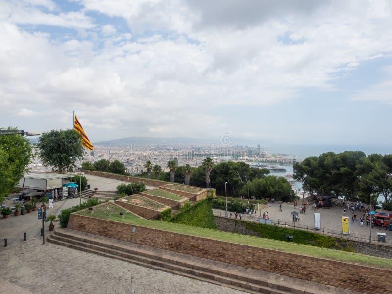 Castello di Montjuïc fotografie stock libere da diritti