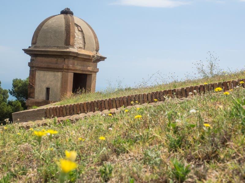 Castello di Montjuïc fotografie stock