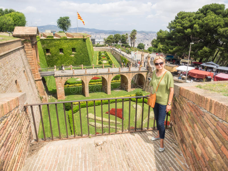 Castello di Montjuïc immagini stock