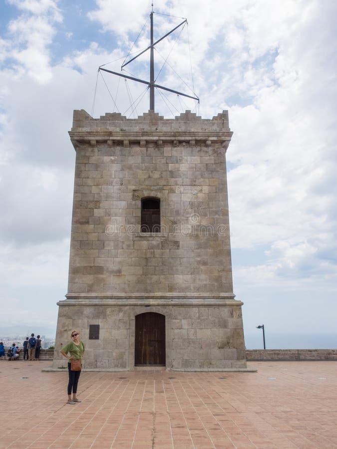 Castello di Montjuïc fotografia stock libera da diritti