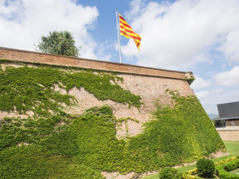 Castello di Montjuïc immagine stock libera da diritti