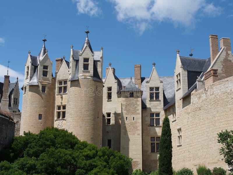Castello di Montreuil Bellay, Francia. fotografia stock libera da diritti