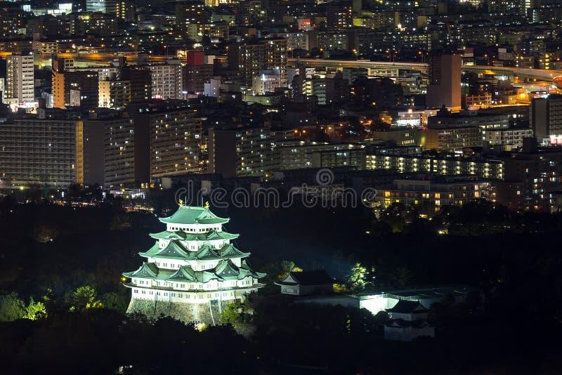 Castello di Nagoya di vista aerea fotografie stock