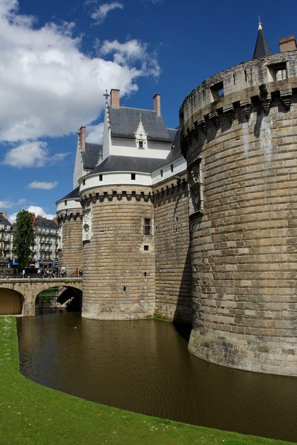 Castello di Nantes fotografie stock