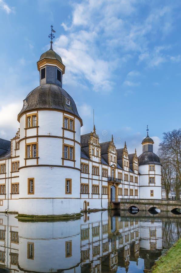 Castello di Neuhaus a Paderborn, Germania immagine stock libera da diritti