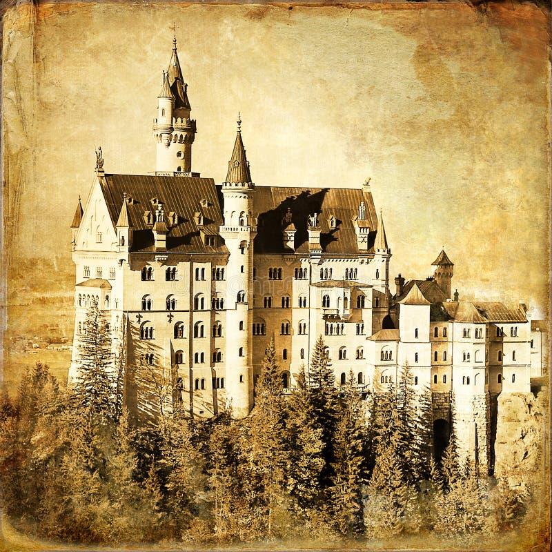 Castello di Neuschwanstein royalty illustrazione gratis