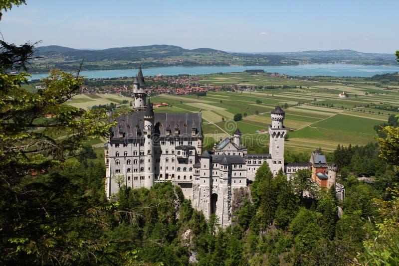 Castello di Neuschwanstein, Germania fotografia stock libera da diritti