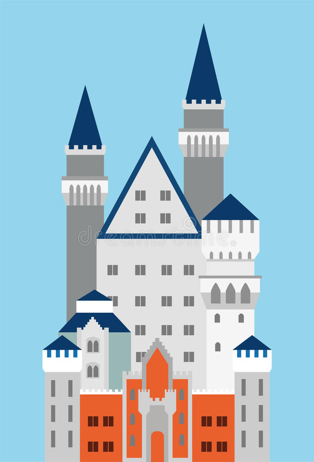 Castello di Neuschwanstein in Germania fotografie stock libere da diritti