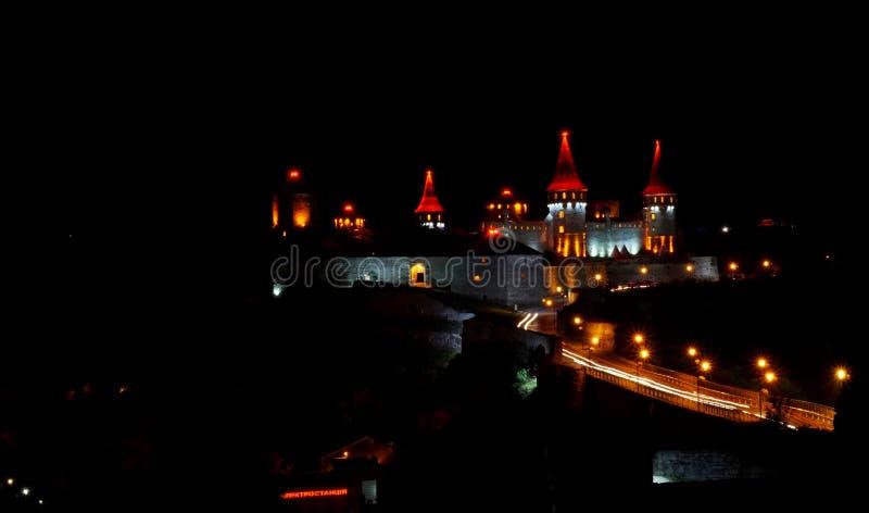 Castello di notte fotografia stock
