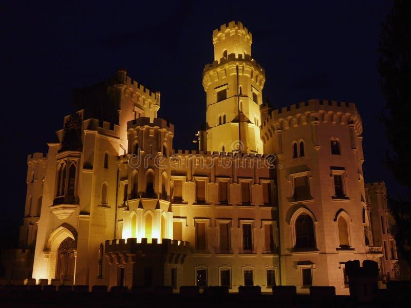 Castello di notte immagini stock libere da diritti
