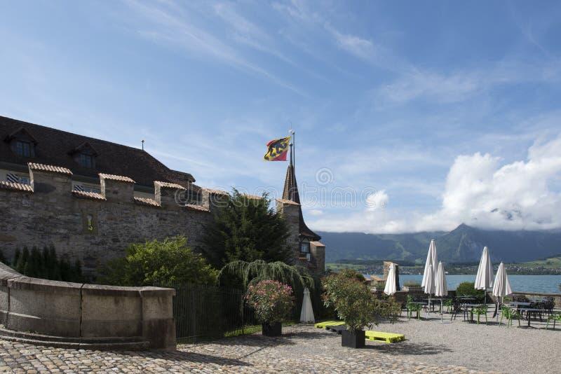 Castello di Oberhofen, Svizzera fotografia stock libera da diritti