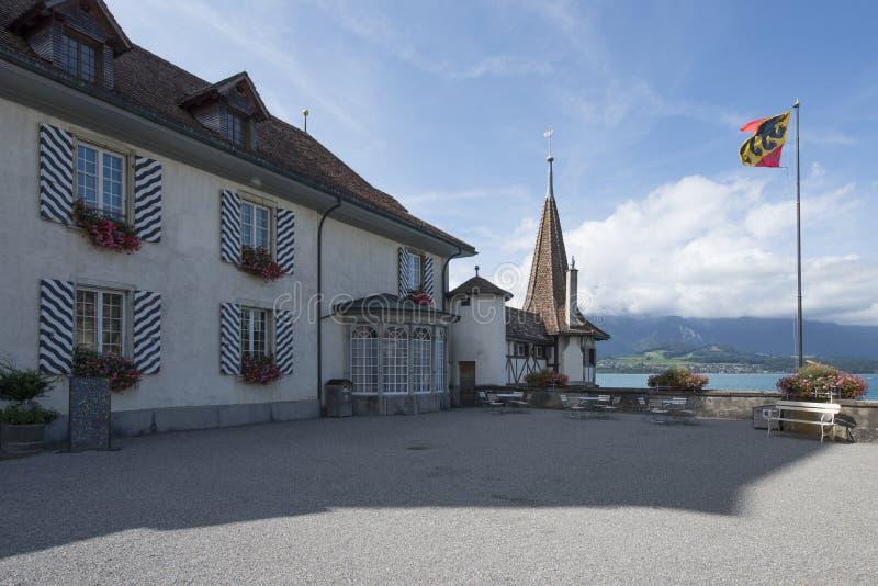 Castello di Oberhofen, Svizzera fotografie stock libere da diritti