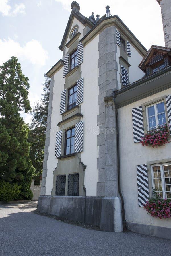 Castello di Oberhofen, Svizzera immagini stock libere da diritti