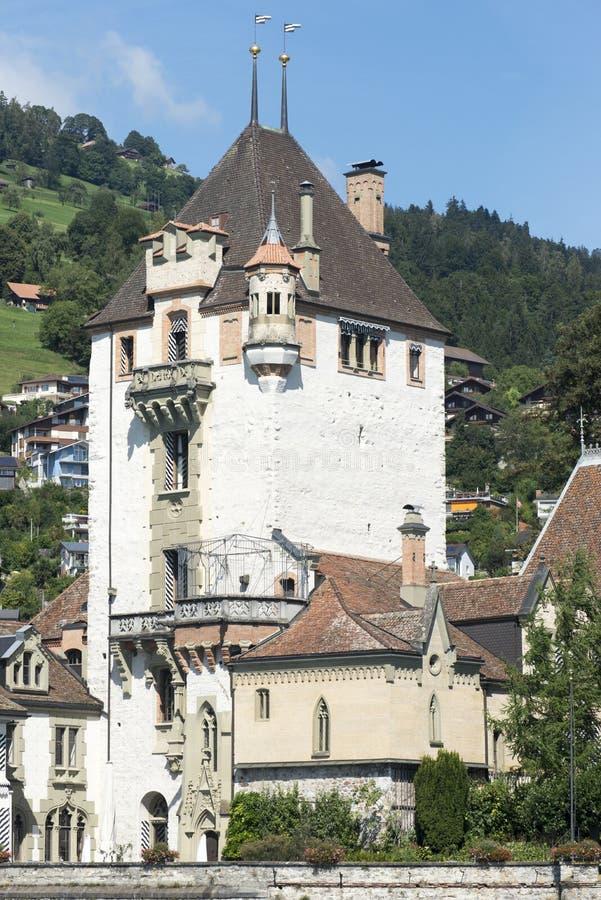 Castello di Oberhofen, Svizzera immagine stock