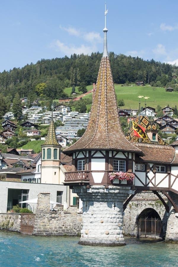 Castello di Oberhofen, Svizzera fotografia stock