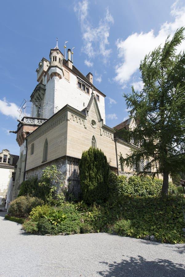 Castello di Oberhofen, Svizzera immagini stock