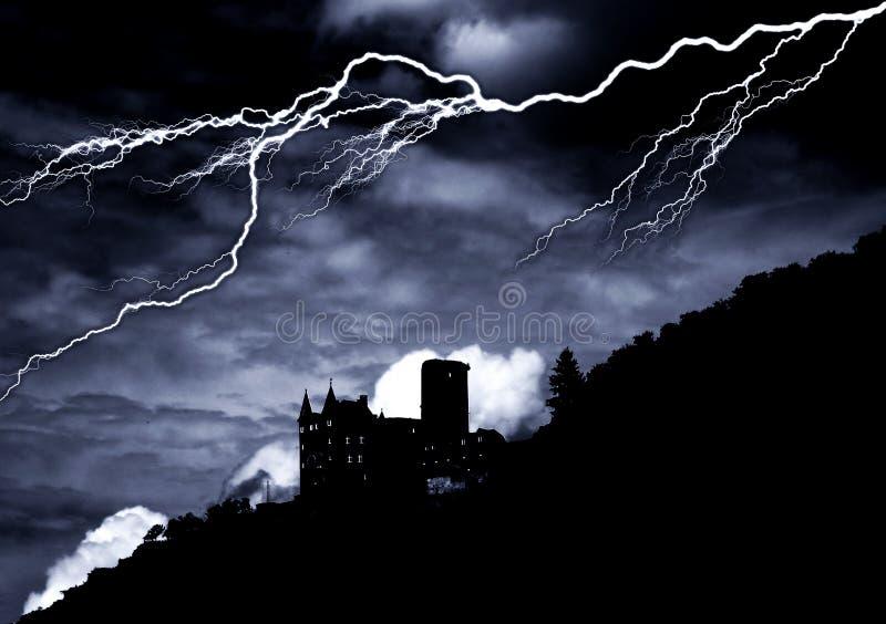 Castello di orrore fotografia stock libera da diritti