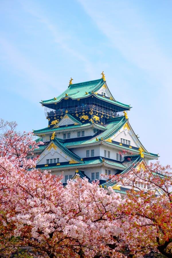 Castello di Osaka, Giappone fotografia stock libera da diritti