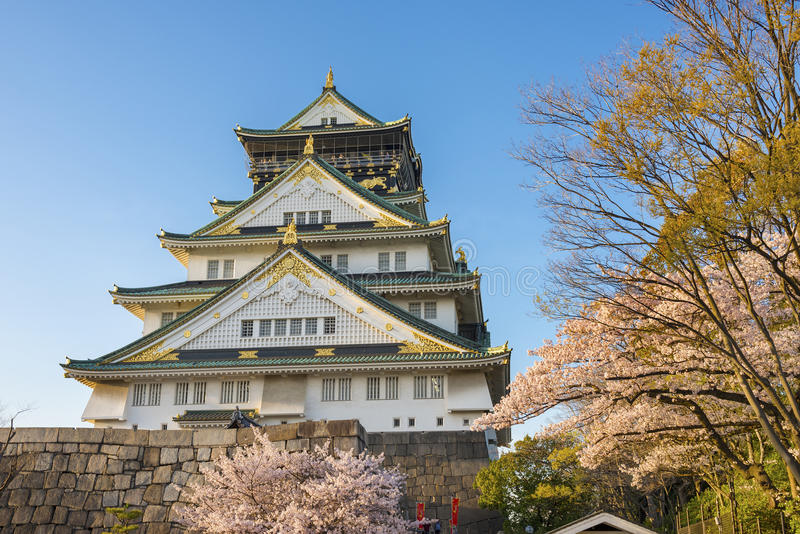 Castello di Osaka nel Giappone fotografia stock