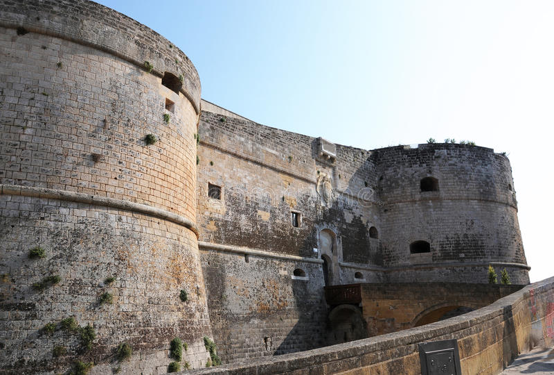 Castello di Otranto fotografie stock libere da diritti