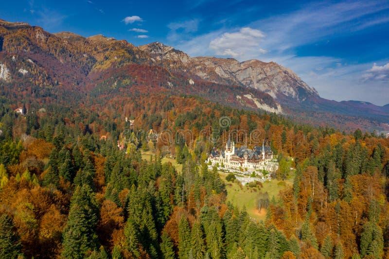 Castello di Peles, Sinaia, Romania immagini stock libere da diritti
