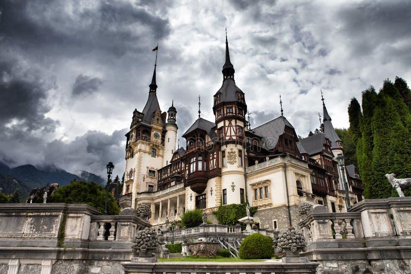 Castello di Peles, Sinaia, Romania fotografia stock libera da diritti