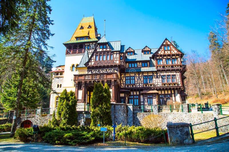 Castello di Pelisor in Romania fotografia stock