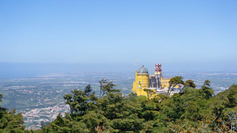 Castello di Pena in Sintra fotografia stock