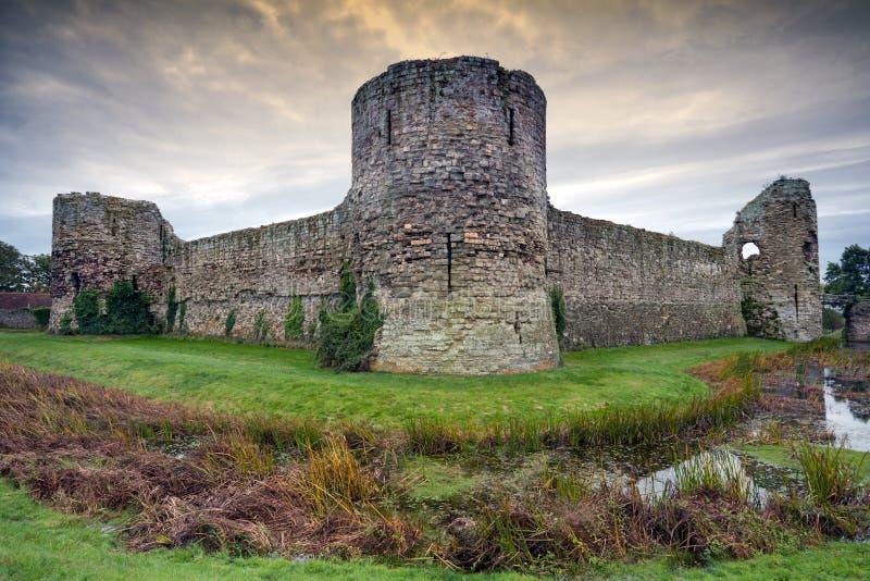 Castello di Pevensey, Sussex orientale, Inghilterra fotografia stock