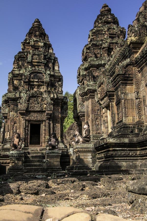Castello di Phnom Bakeng in Cambogia fotografia stock libera da diritti