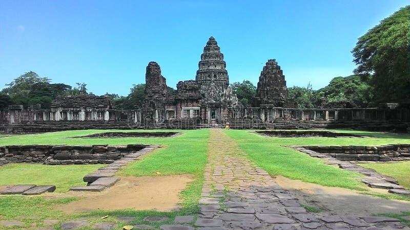Castello di pimai del castello di Pimai nell'albero di verde della Tailandia fotografie stock
