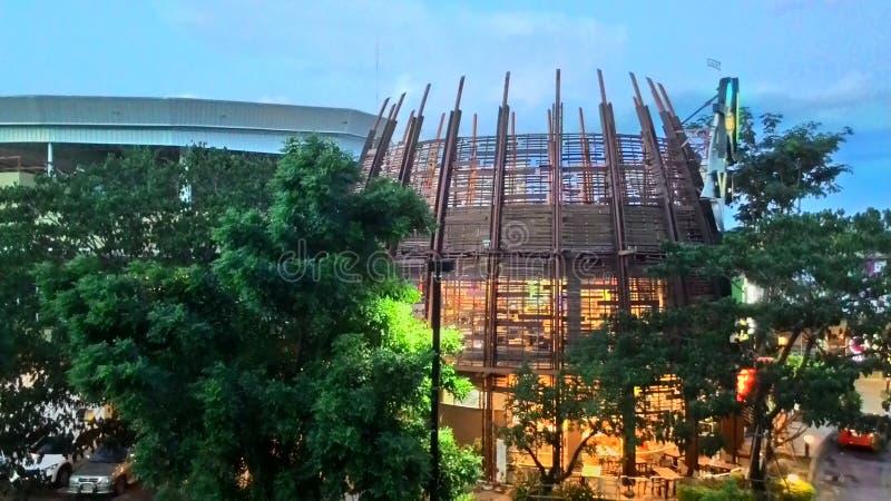 Castello di pimai del castello di Pimai nell'albero di verde della Tailandia immagine stock