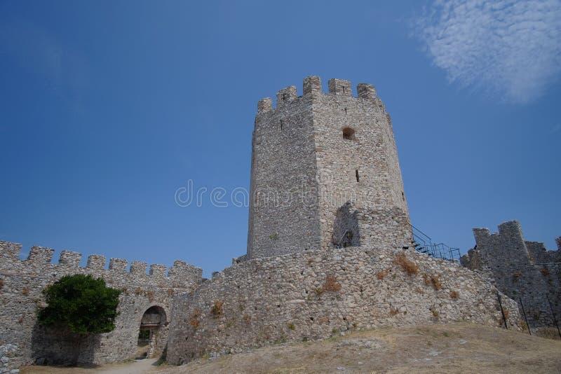 Castello di Platamon in Grecia immagini stock