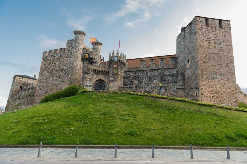 Castello di Ponferrada immagine stock