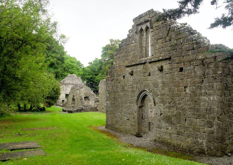 Castello di Portumna in Irlanda con la vista del giardino fotografia stock