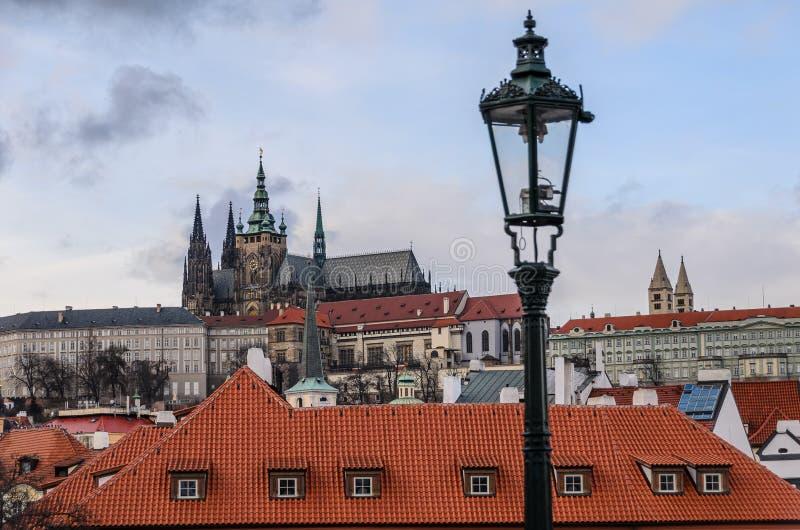 Castello di Praga Charles Bridge, Karluv più fotografia stock