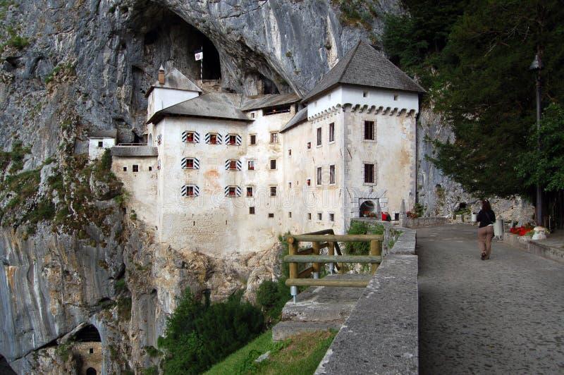 Castello di Predjama fotografia stock libera da diritti
