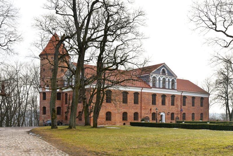 Castello di Raudondvaris fotografia stock