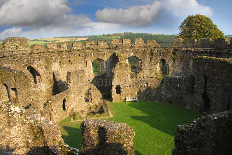 Castello di Restormel, Lostwithiel Cornovaglia Inghilterra immagine stock libera da diritti