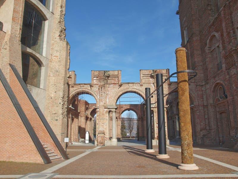Castello di Rivoli, Italy. Castello di Rivoli castle near Turin, Italy stock images