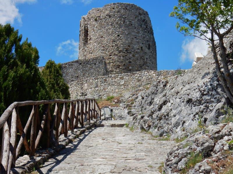 Castello di Rocca San Felice fotografia stock