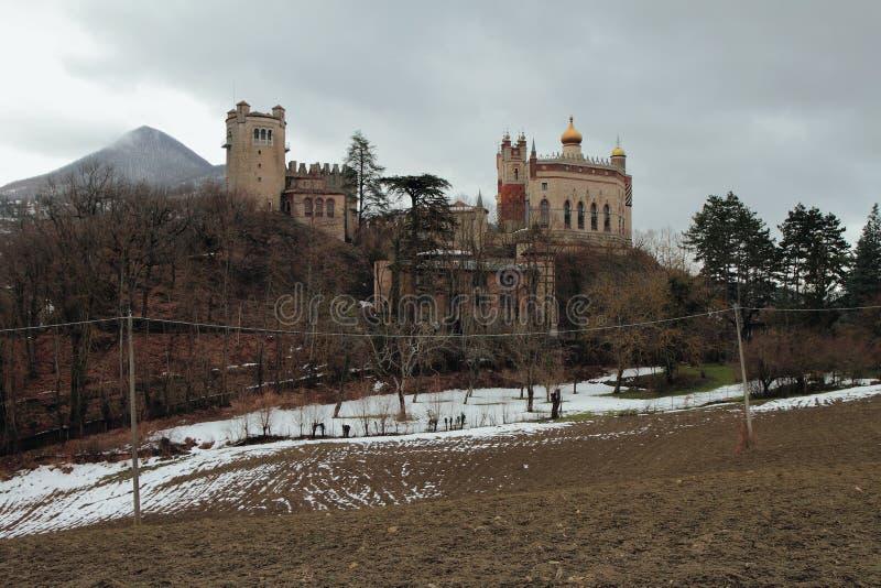 Castello di Rocchetta Mattei Riola, Bologna, Emilia Romagna, Italia immagine stock libera da diritti