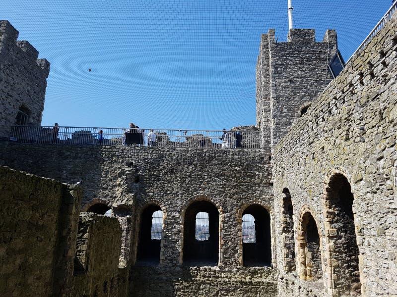 Castello di Rochester a Rochester, Inghilterra, Regno Unito immagini stock libere da diritti