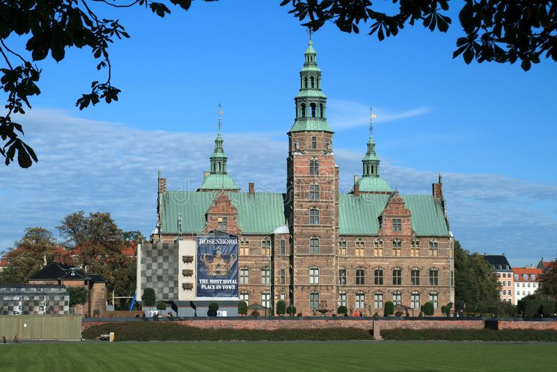 Castello di Rosenborg a Copenhaghen fotografia stock
