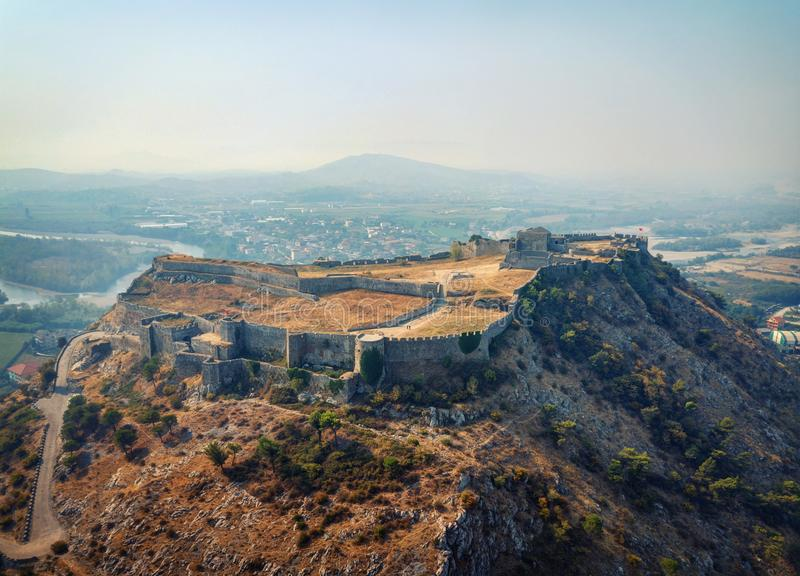 Castello di Rozafa, Albania fotografie stock libere da diritti