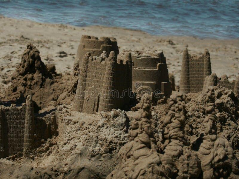 Castello di sabbia immagine stock