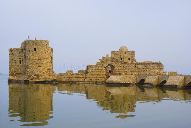 Castello di Saida immagini stock libere da diritti
