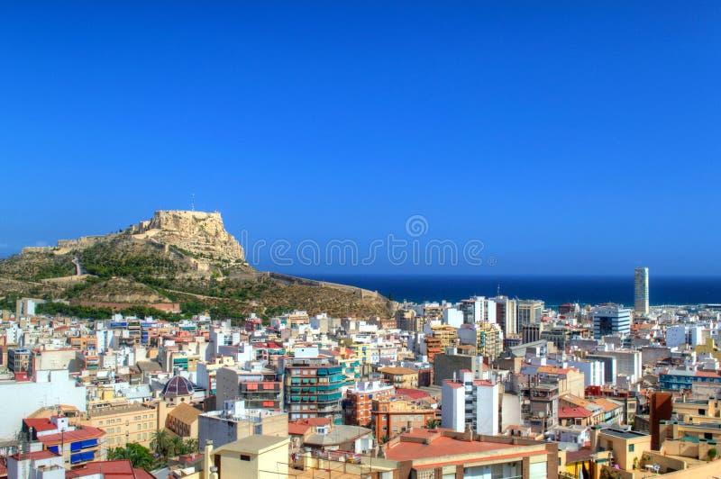 Castello di Santa Barbara in Costa Blanca, Alicante immagine stock libera da diritti